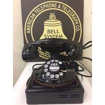 Telefone Antigo Bell System Americano Preto Da Década De 30