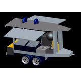 Carreta 2 Eixos Para Food Truck Churrasco Bafo A Lenha