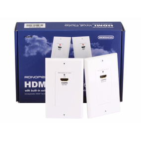 Extender Hdmi Wall Plate Monoprice Cat5e/cat6 30 Metros