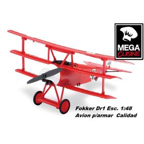 Avion Fokker Dr1 P/armar Esc1:48 Baron Rojo Guerra Mundial