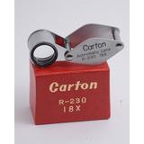 Lupa Japonesa Carton R-230 18x En Caja Y Estuche De Cuero
