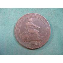 Moneda 10 Centimos 1870, España Km# 663