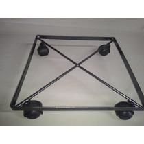 Suportes Móvel Quadrado Reforçado P Vaso 30x30 C/ Rodas
