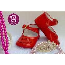 Zapatos Rojos Bebé Niña Suaves