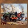 Placa Vintage King Mdf 27x27cm Locomotivas Bcq.00255