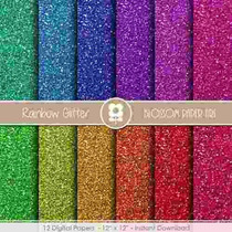 Kit Imprimible Pack Fondos Brillos Glitter Clipart Cod 3