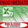 Tabelas Excel 6200 Planilhas Editáveis Via E-mail Ag