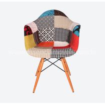 Cadeira Charles Eames Com Braço Patchwork