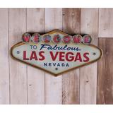 Placa Decorativa Luminosa Las Vegas