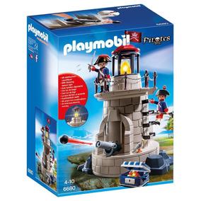 Playmobil Pirates Faro Con Soldados Posee Luz Art. 6680