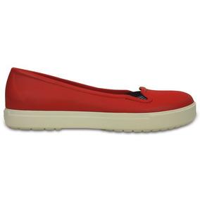 Zapato Crocs Dama Citilane Flat Rojo