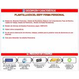 Planilla Excel Balance Firma Personal Informe Preparacion