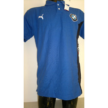 Camisa Playera Tipo Polo Color Azul Marino Marca Puma Bmw