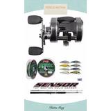 Reel Caster Plus 400+caña Sensor+multi+señuelo+envío Combo!!