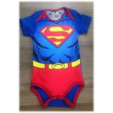 Body Mameluco Niño Niña Ropa Bebé Superman Hipoalergénico