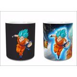 Taza Mágica Goku Azul Dragon Ball Super Envío Gratis