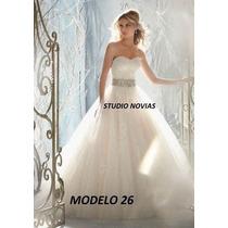 Vestido Novia Nuevo Barato Bonito Elegante Linea A Princes26