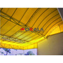 Lona Amarela Forte Toldo Cobertura Fachada 600micra 8,5x5,75
