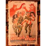 Olmedo Porcel Los Colimbas Al Ataque. Afiche Cine Original