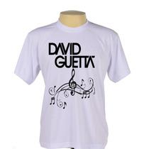Camisa Camiseta Estampada Dj David Guetta Música Eletrônica