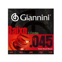 Encordoamento Para Contra-baixo 5 Cordas Giannini (.045-.130