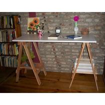 Escritorio Caballetes C/estantes / Tablero 1,50 Melamina 18m