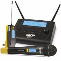 Microfone S/ Fio De Mão E Transmissor Uhf Multiset Iii - Skp