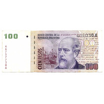 Bottero 3705 Billete $100 Con Leyenda Pou-alvarez Palermo-
