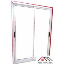 Ventana Balcon Aluminio Modena Dvh Doble Vidrio 120x200