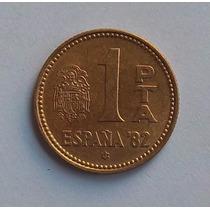 España 1 Peseta 1980 (80) Mundial 1982 Km 816