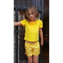 Nuevo Conjunto Short Y Blusa Para Niñas