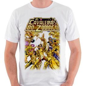 Camiseta Cavaleiros Do Zodíaco Cdz Saint Seiya Blusa Camisa