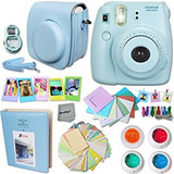 Fujifilm Instax Mini 8 Cámara Accesorios Blue Kit Para Fuj