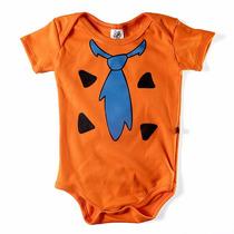 Body Divertido Fred Flintstone Fantasia Bebê Er