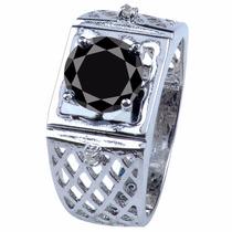 Anillo Con Diamante Negro Certificado 2.13qt #9