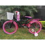 Bicicleta Para Niña R20 Con Casco Y Protecciónes De Regalo
