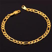 Bracelete Pulseira Masculina Banho Ouro 18k Barata Garantia