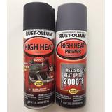 Tinta Spray Automotivo Motor Alta Temperatura Preto + Primer