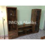 Modulo Rack Multimedia. Mueble Tv Y Audio. Algarrobo.