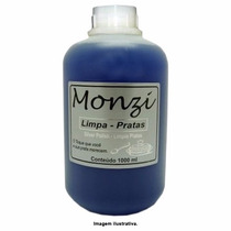 Monzi 01 Litro Limpa Pratas, Limpa Chapeados Ou Limpa Joias