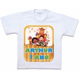 Camiseta Cocoricó Personalizada Roupas Em Algodão