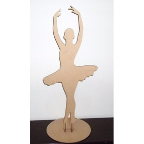 Bailarina Mdf 85cm Decoração Mesa Festa 15 Anos Debutante