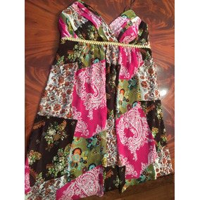Vestido De Gasa Importado Primavera Mujer Talle L