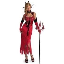 Nuevo Disfraz Talla Chica Mujer Vestido Diablita Diabla