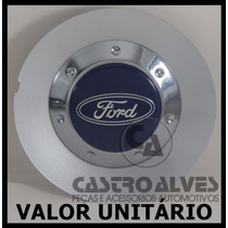 Calota Tampa Centro Roda Scorro S182 Ford Aro 14|15|17 Prata