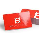 1000 Cartão De Visita Couchê 250g | Colorido Frente | Verniz