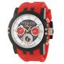 Reloj Mulco Ilusion Acero Silicón Rojo Unisex Mw311169065