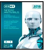 Eset Nod32 Antivirus V10 Licencia Original 1 Año X 3 Pc