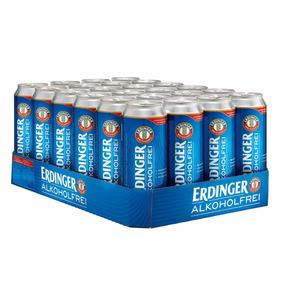 Cerveja Erdinger Alkoholfrei Sem Álcool 500ml Caixa 24 Latas