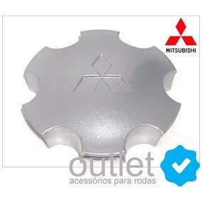 Calota Centro Roda Mitsub L200 Outdoor Pajero Sport Prata